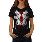 Japan Warrior Art Womens T-Shirt
