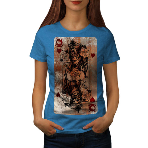 Gothic Heart Queen Womens T-Shirt