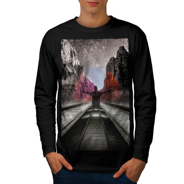 Nature City Fantasy Mens Long Sleeve T-Shirt