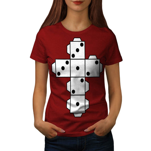 Playing Dice Cross Womens T-Shirt