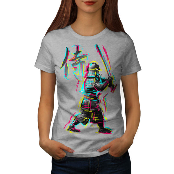Colourful Samurai Womens T-Shirt