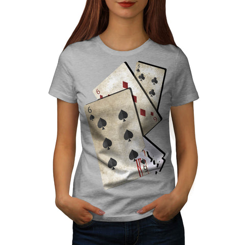 Razor Blade Gamble Womens T-Shirt