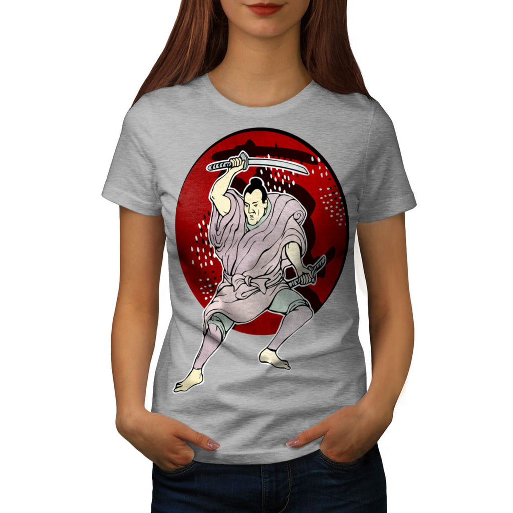 Sword Fighter Pose Womens T-Shirt