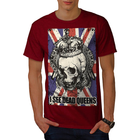 Skull Queen England Mens T-Shirt