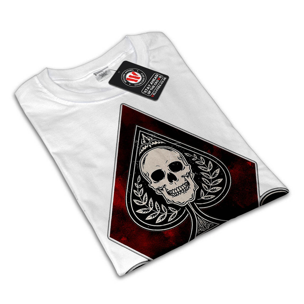 Ace Card Skeleton Mens T-Shirt