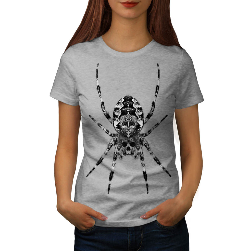 Spider Skull Face Womens T-Shirt