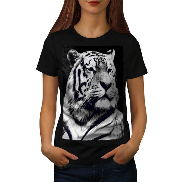 Magnific Grey Tiger Womens T-Shirt