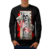 Monroe Card Game Mens Long Sleeve T-Shirt