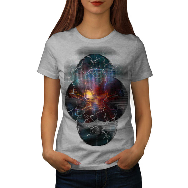 Skull Glow Crossbone Womens T-Shirt