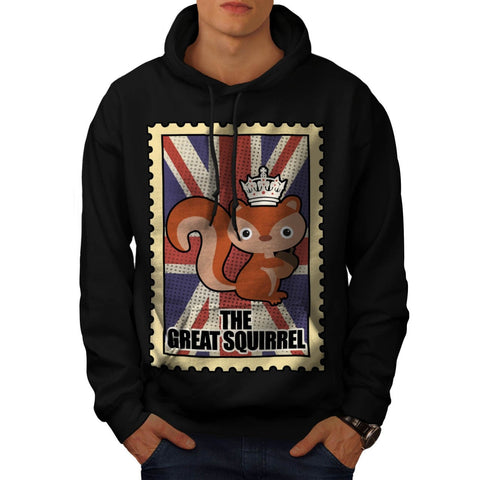 Animal Squirrel GB Mens Hoodie