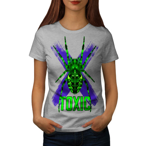 Toxic Spider Cross Womens T-Shirt