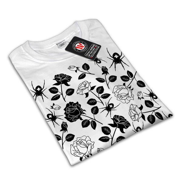 Rose Spider Pattern Womens T-Shirt