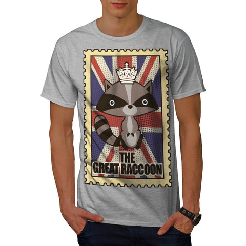 Great Britain Raccoon Mens T-Shirt