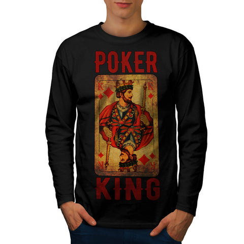 Poker Diamond King Mens Long Sleeve T-Shirt