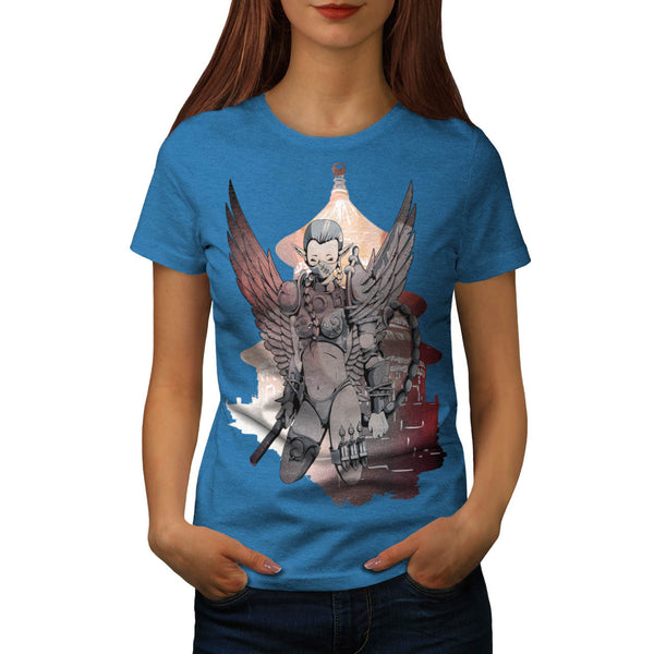 Angel Samurai Girl Womens T-Shirt