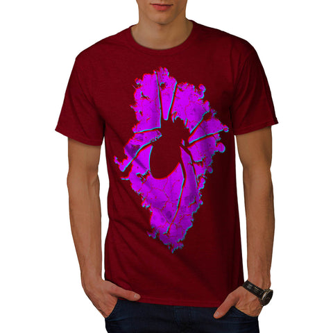 Bloody Spider Shape Mens T-Shirt
