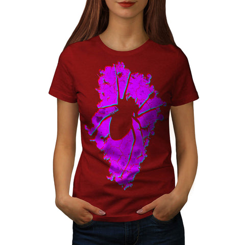 Bloody Spider Shape Womens T-Shirt