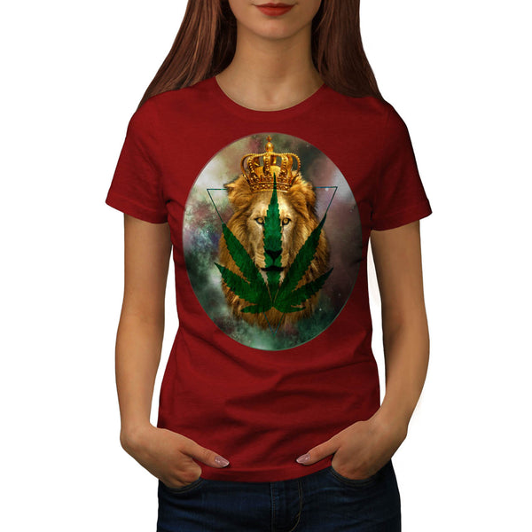 Royal Lion Dope Leaf Womens T-Shirt