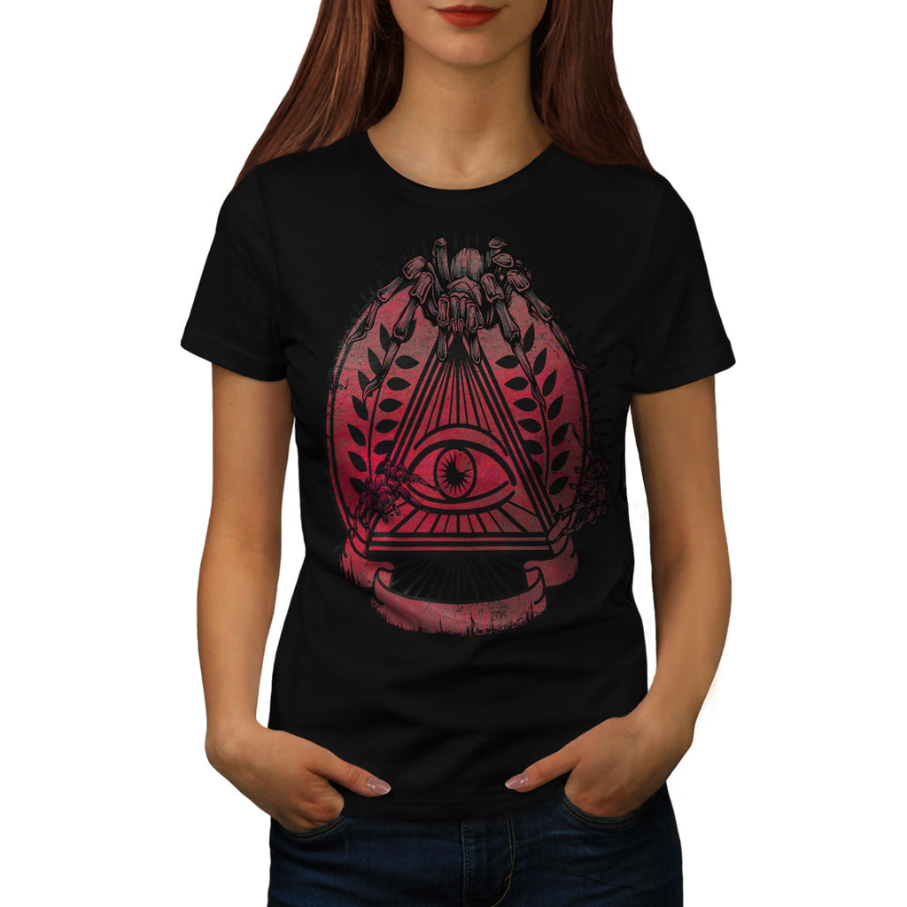 Illuminati Spider Womens T-Shirt
