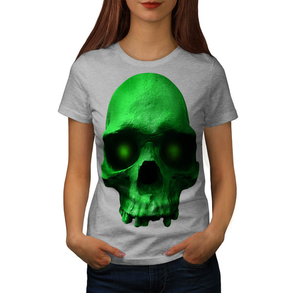 Skull Glow Devil Eye Womens T-Shirt