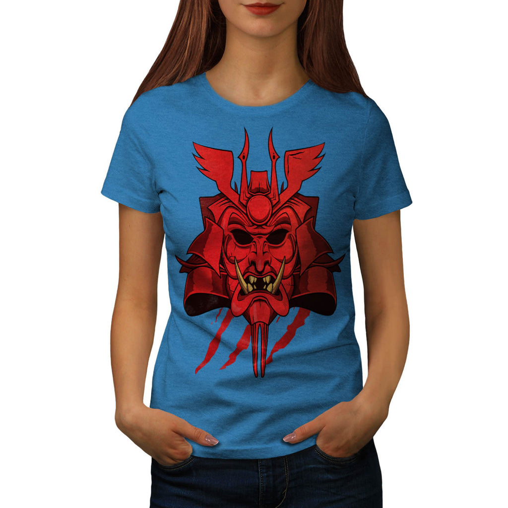 Samurai Face Mask Womens T-Shirt