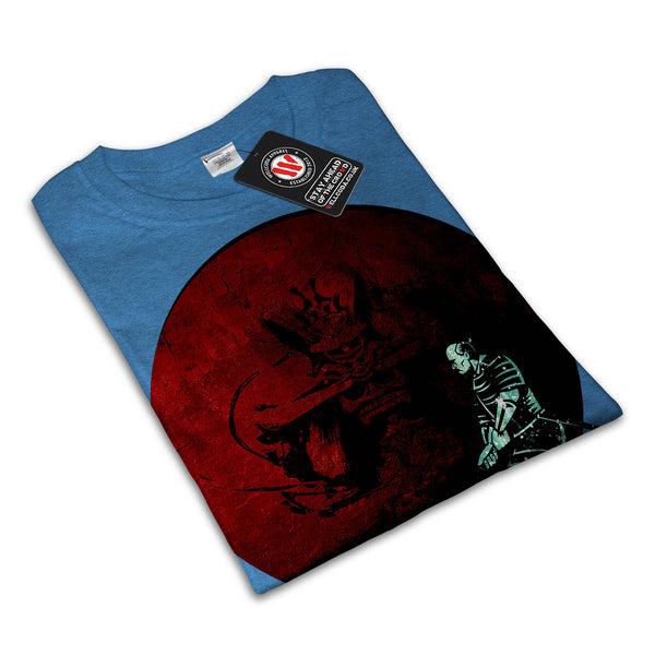 Samurai Fight Vortex Womens T-Shirt
