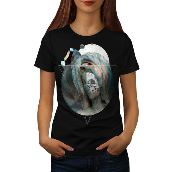 Virgin Mary Sculpture Womens T-Shirt