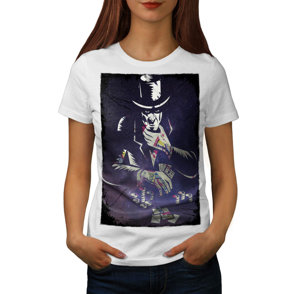Space Poker Player Womens T-Shirt