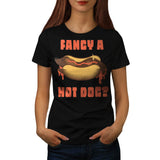 Hot Dog Junk Food Womens T-Shirt