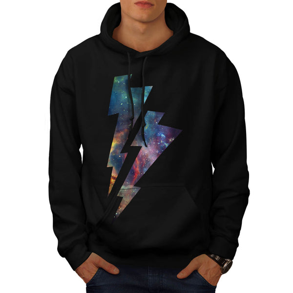 Lightning Strike Space Mens Hoodie