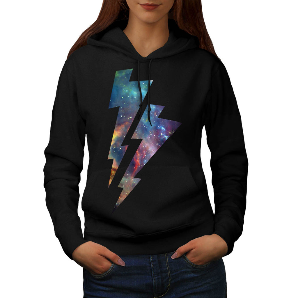 Lightning Strike Space Womens Hoodie