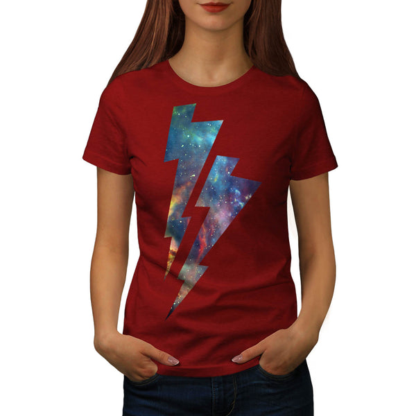 Lightning Strike Space Womens T-Shirt