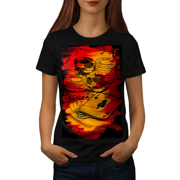 Graffiti Gambling Womens T-Shirt