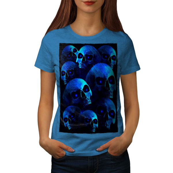 Skull Devil Eye Glow Womens T-Shirt