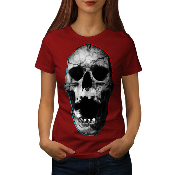 Skull Devil Head Art Womens T-Shirt