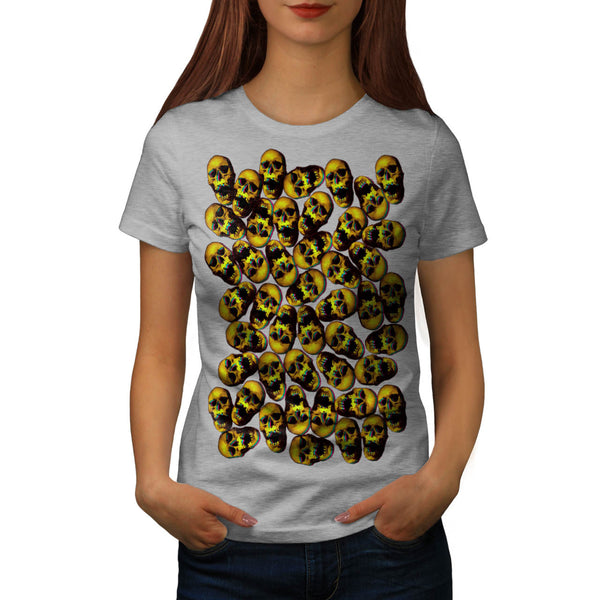 Skull Head Festival Womens T-Shirt