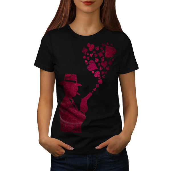 Card Heart Gangster Womens T-Shirt