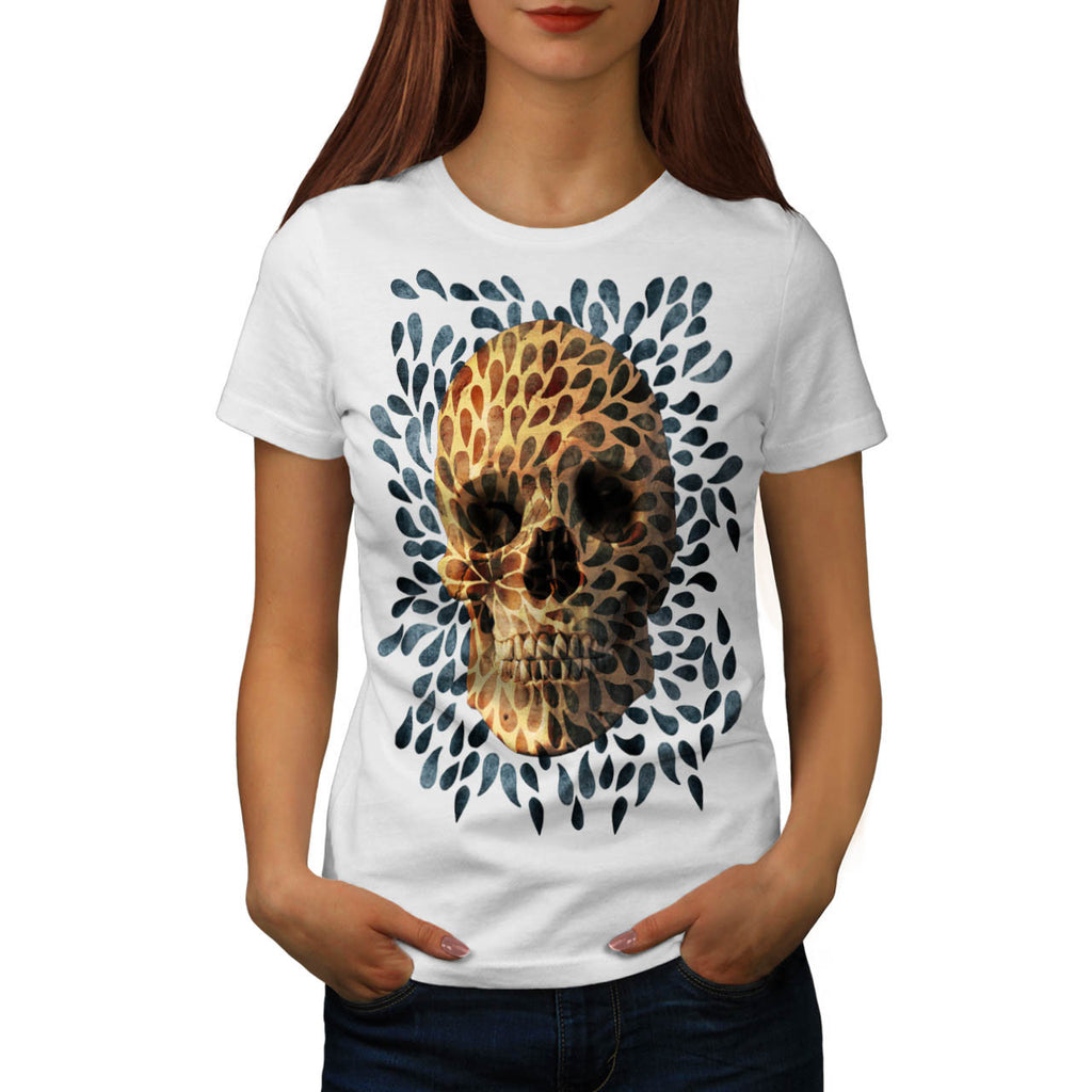 Skull Head Sugar Art Womens T-Shirt