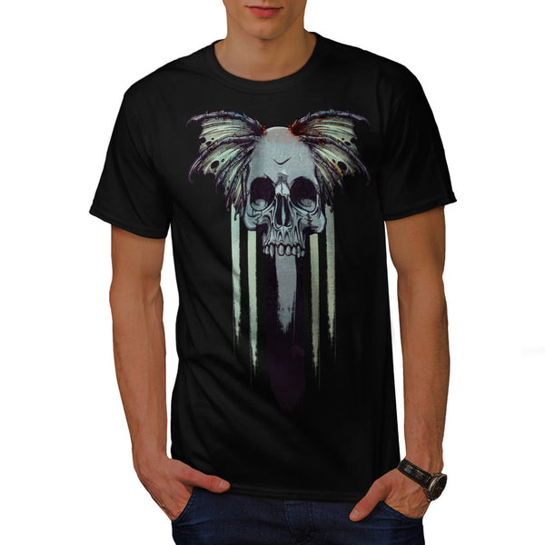Skull Head Wings Art Mens T-Shirt
