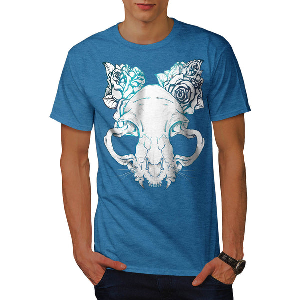 SKull Rose Beast Art Mens T-Shirt