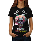 Skull Flower Zombie Womens T-Shirt