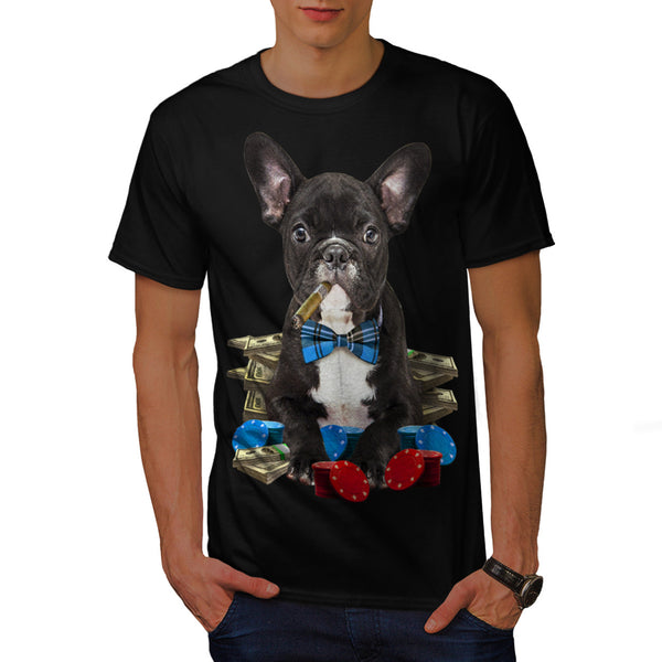 Pug Dog Poker Player Mens T-Shirt