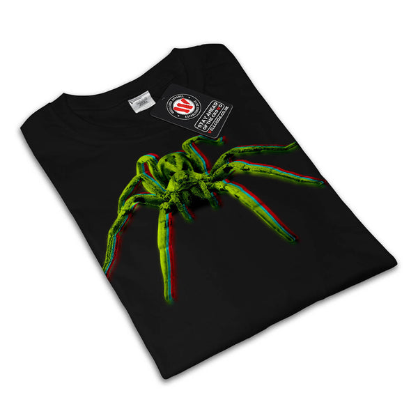 Neon Color Spider Womens T-Shirt