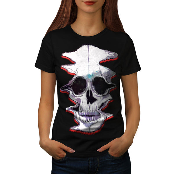 Skull Acid Sugar Art Womens T-Shirt