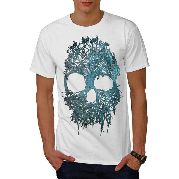 Skull Flower Glow Mens T-Shirt