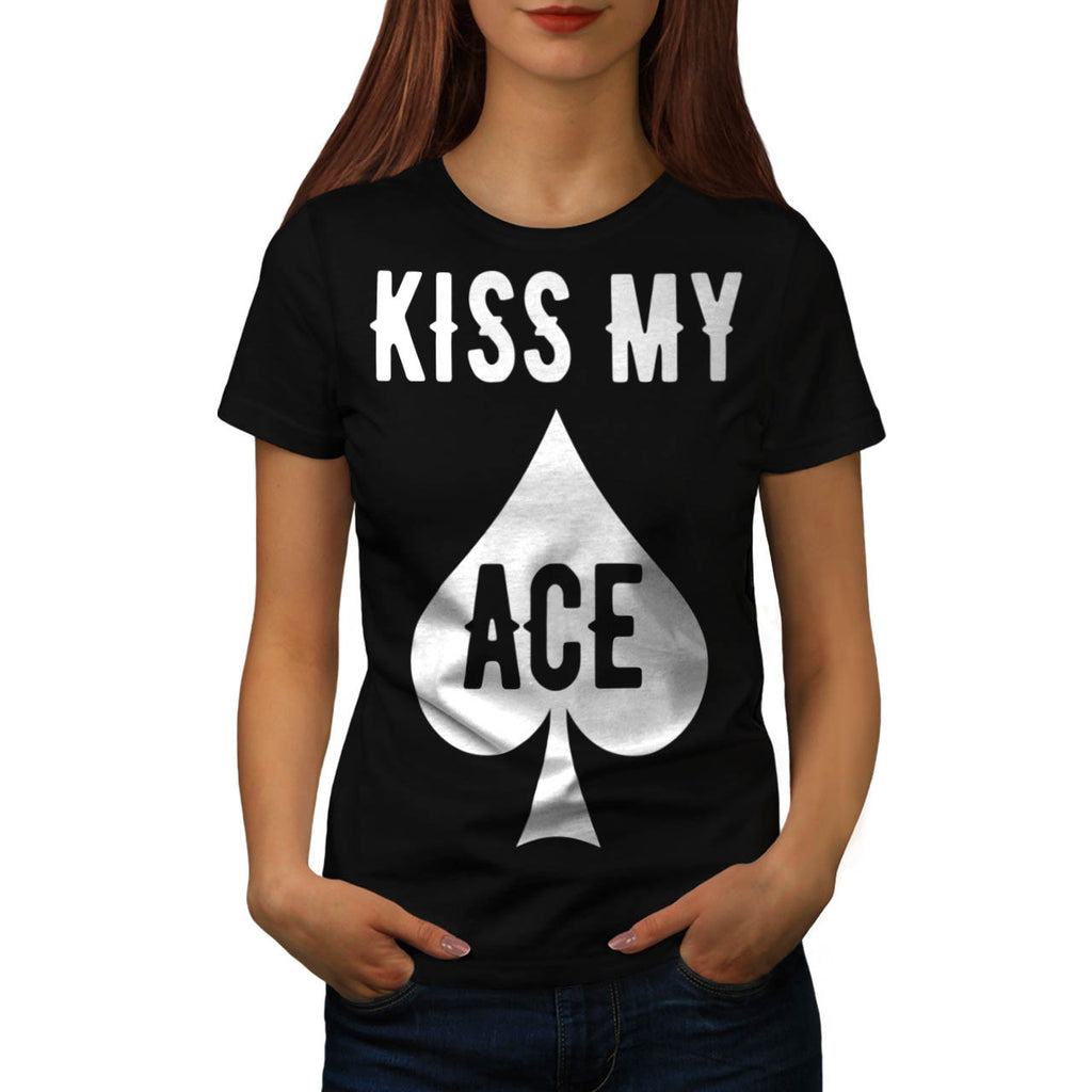 Cheeky Card Player Womens T-Shirt