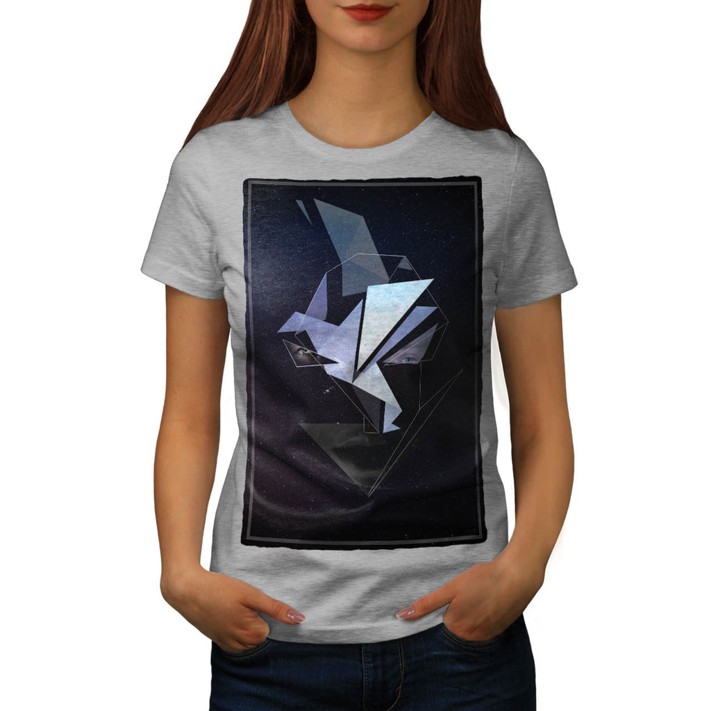 Face Fantasy Origami Womens T-Shirt