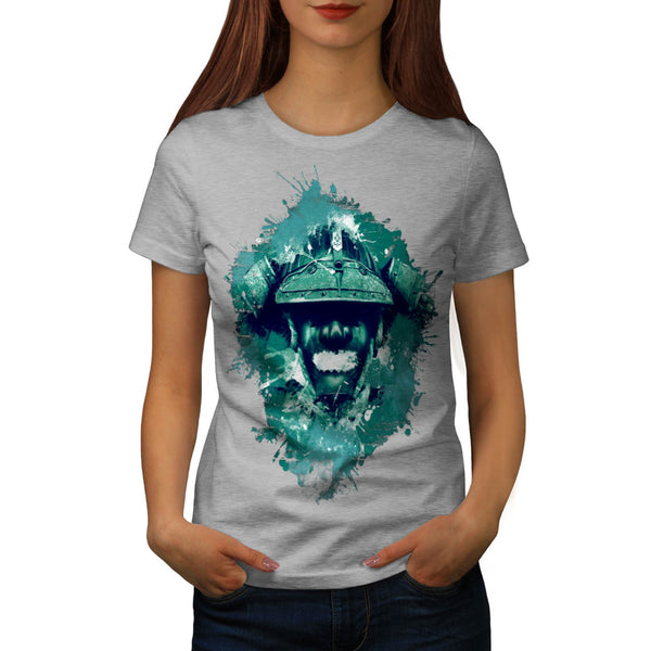 Oriental Battle Mask Womens T-Shirt