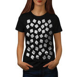 Lucky Dice Pattern Womens T-Shirt