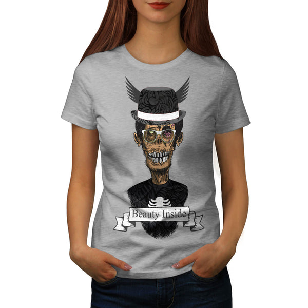 Zombie Beauty Inside Womens T-Shirt